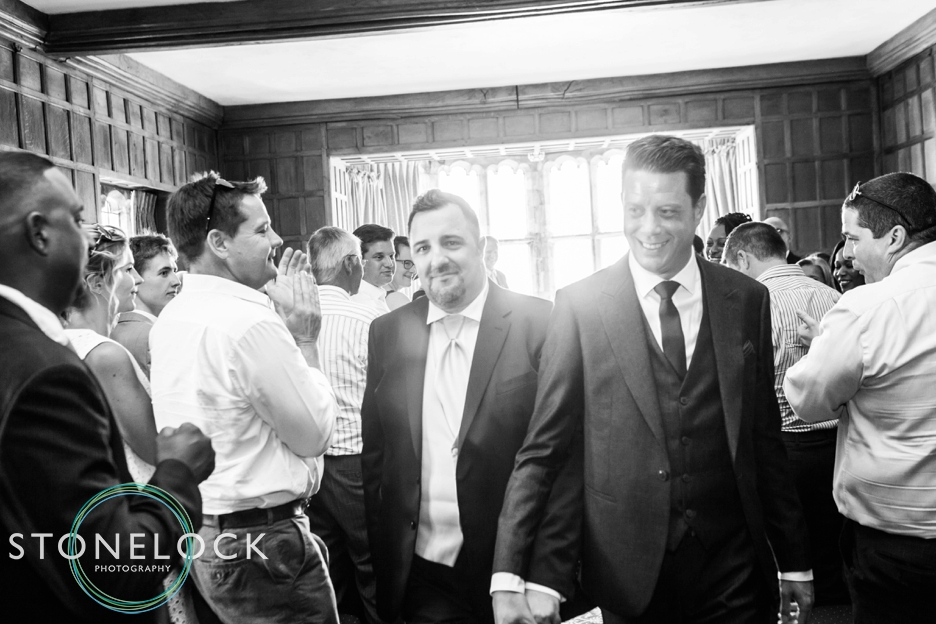 Wedding ceremony photography at Lympne Castle, Kent.