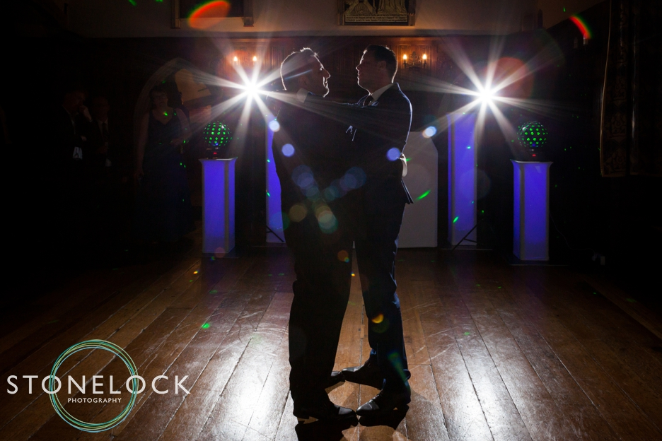 Wedding photography at Lympne Castle, Kent. The first dance.
