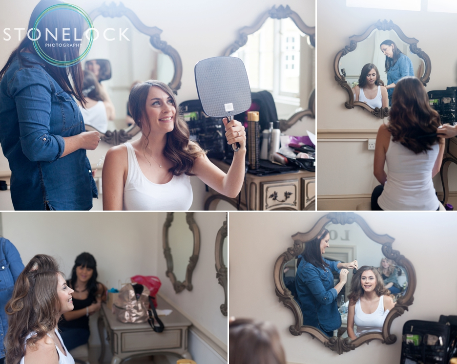 Bridal prep at Nonsuch Mansions, Cheam, Surrey. Wedding Photography.