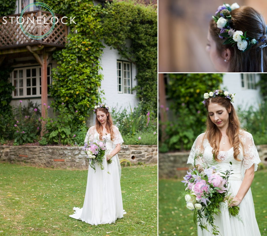 Wedding photography at Ridge Farm Studios, Dorking, Surrey. The bride