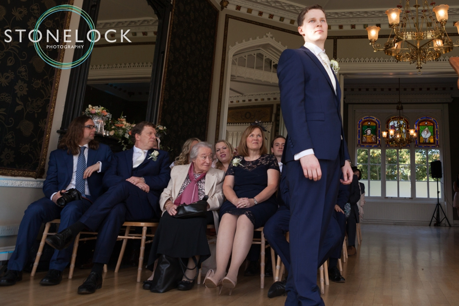 Wedding ceremony at Nonsuch Mansions, Cheam, Surrey. Wedding Photography.