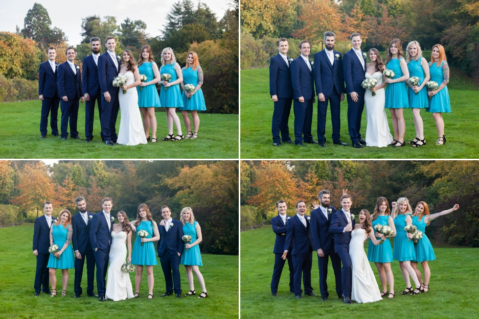 Bridal party at Nonsuch Mansions, Cheam, Surrey. Wedding Photography.