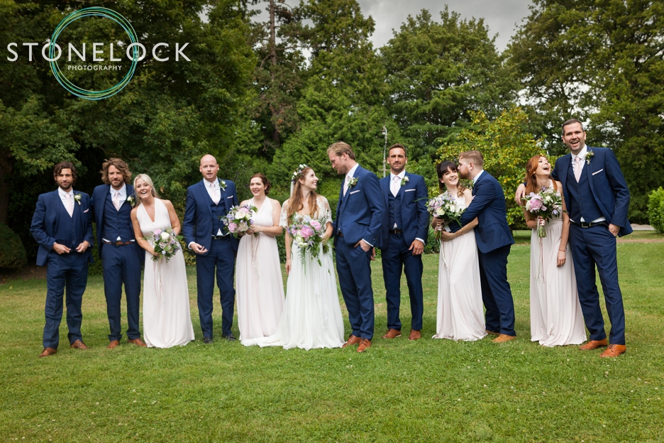 Wedding photography at Ridge Farm Studios, Dorking, Surrey. The bridal party.