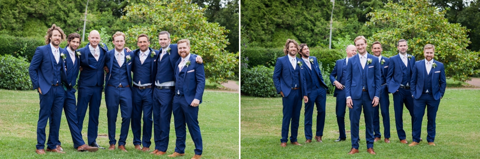 Wedding photography at Ridge Farm Studios, Dorking, Surrey. The groomsmen.