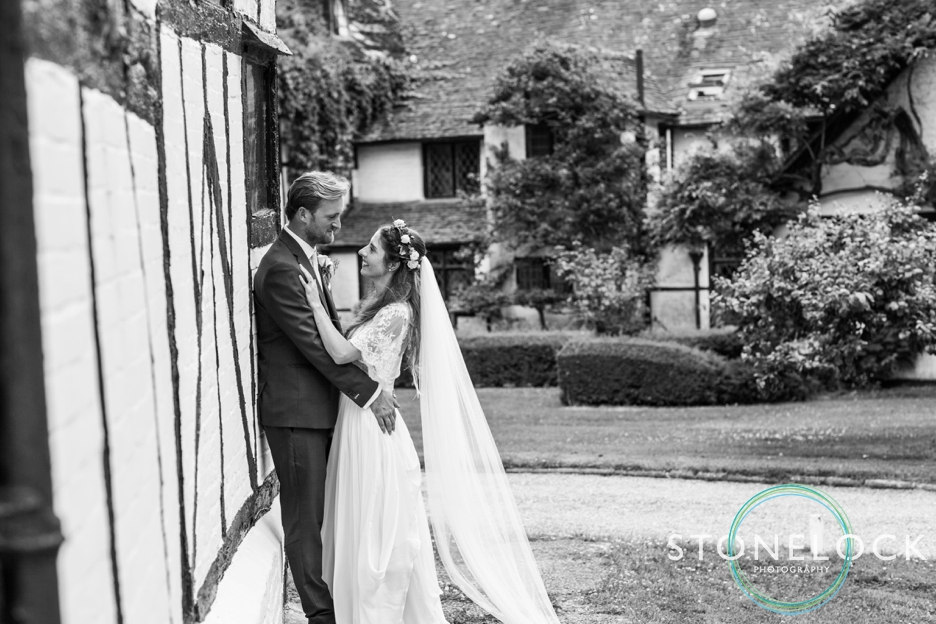 Wedding photography at Ridge Farm Studios, Dorking, Surrey, the bride & groom