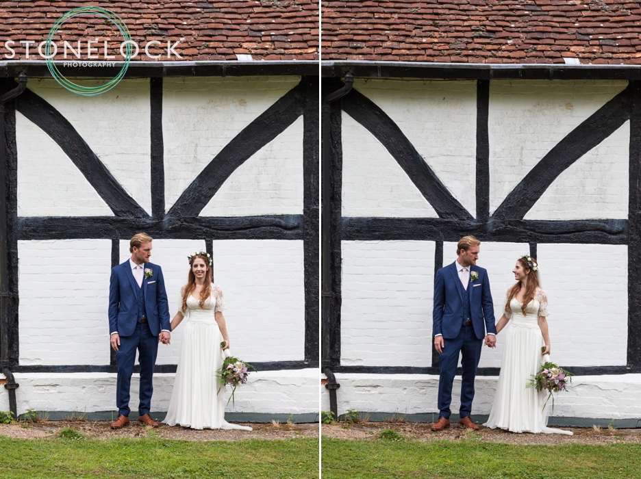 Wedding photography at Ridge Farm Studios, Dorking, Surrey, the bride & groom