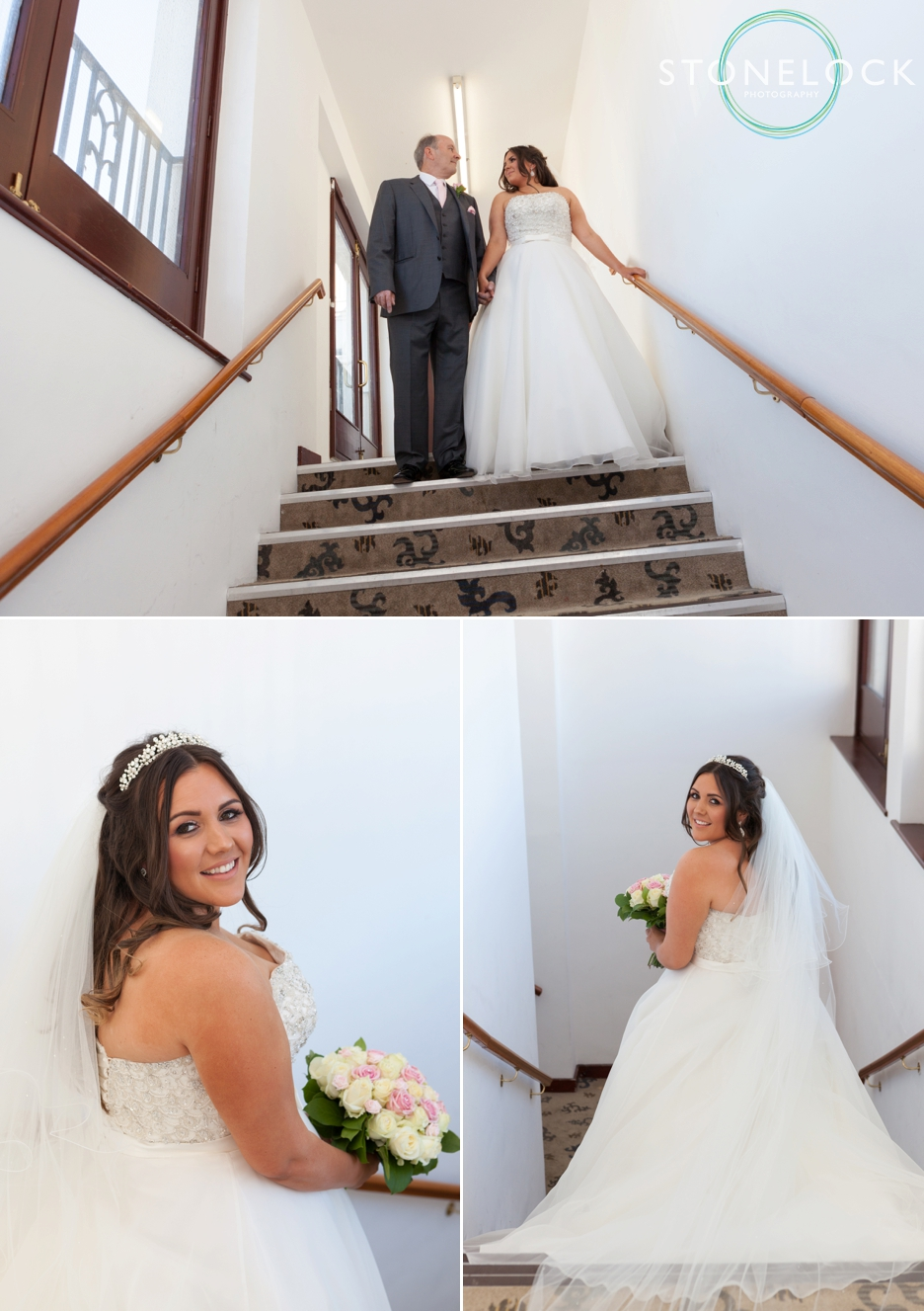 The bride and her father at Copthorne Effingham Park Hotel Surrey