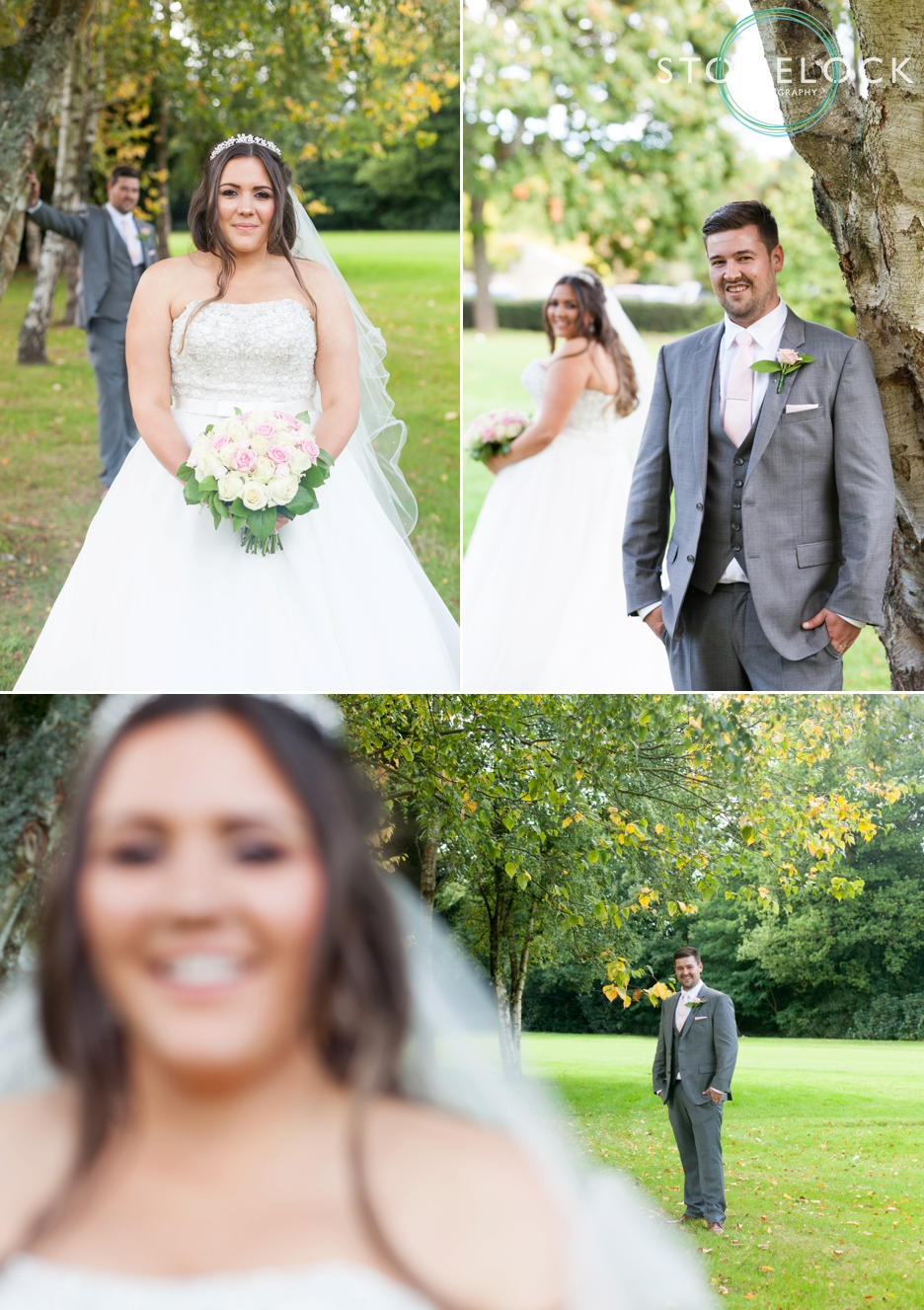Bride & Groom Wedding Photography at Copthorne Effingham Park Hotel Surrey