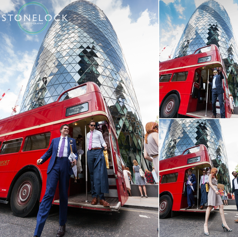 The Gherkin, city of London, Wedding Photography