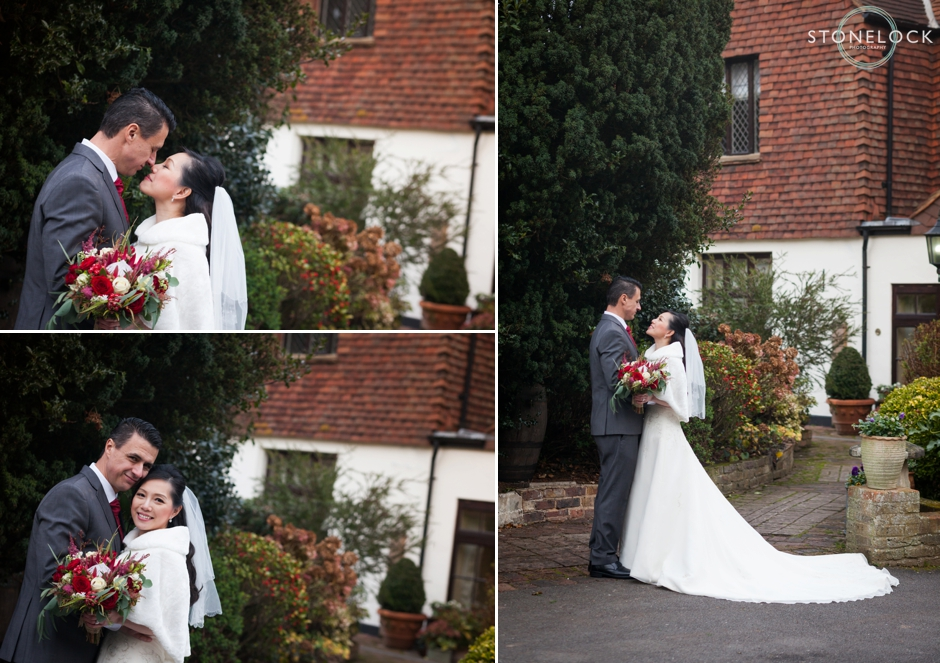 Oaks Farm, Croydon, Surrey, Winter wedding photography