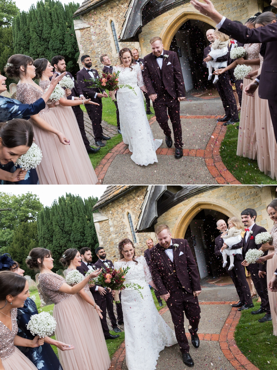 021-ridge-farm-studios-surrey-wedding-photography-ceremony-st-john-the-baptist-church-capel-confetti
