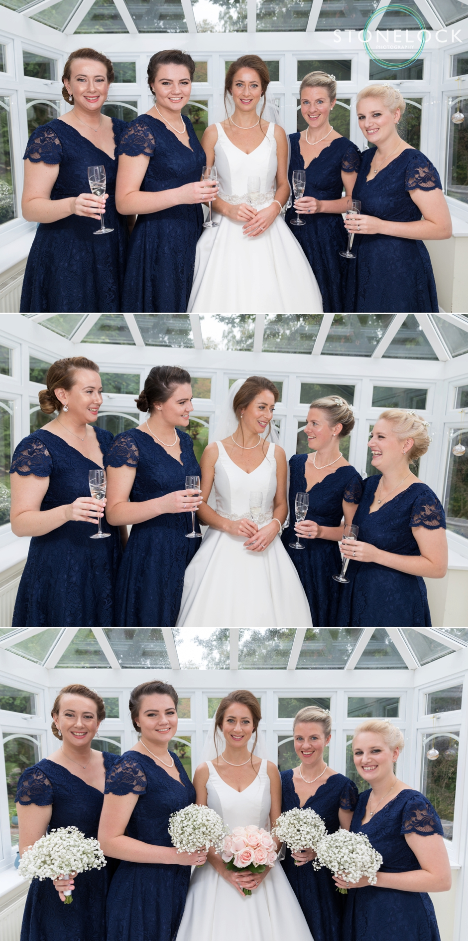 A bride with her bridesmaids
