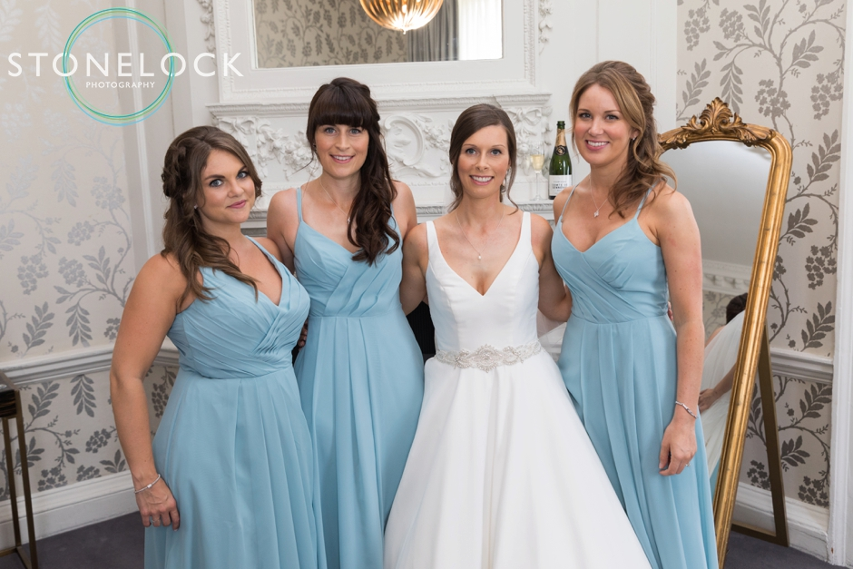 Bride & Bridesmaids at Morden Hall Weddings