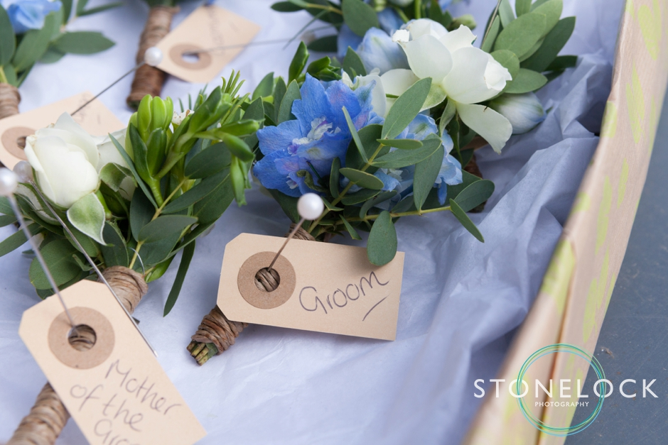 Groom's buttonhole at Morden Hall Weddings