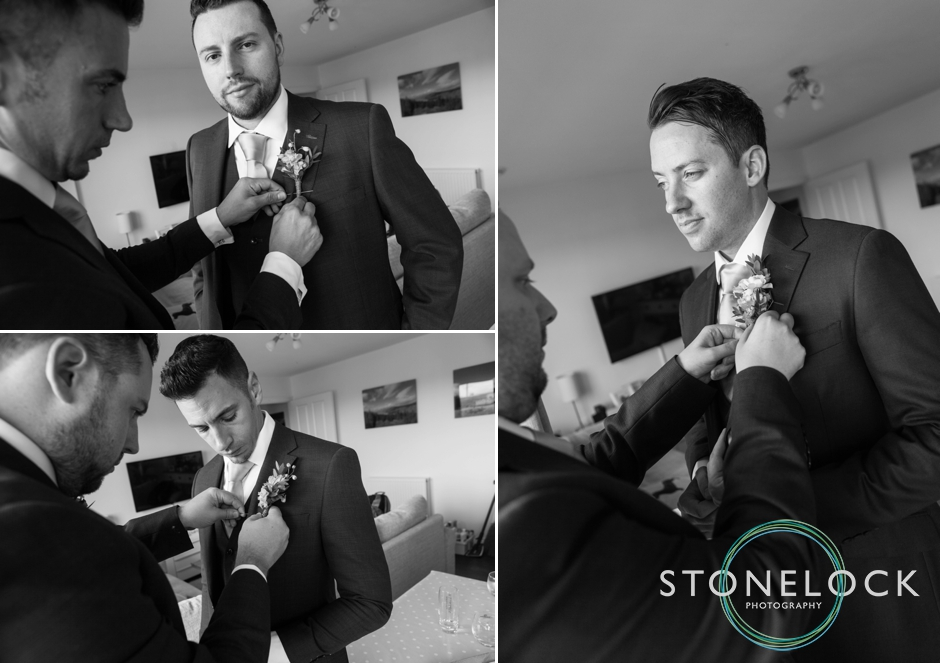 Groom getting ready at Morden Hall Weddings