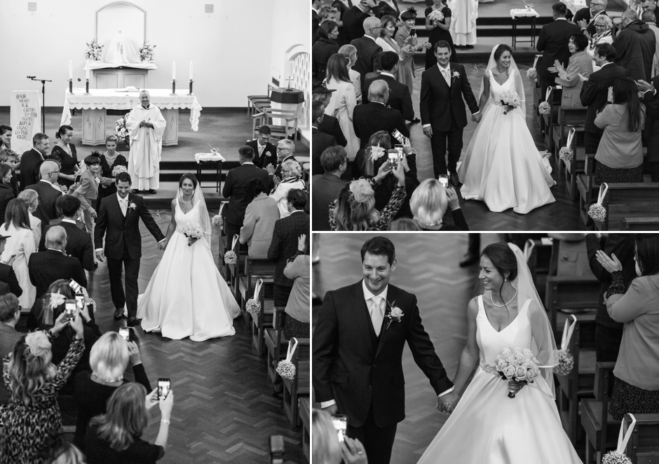 Wedding ceremony at St John's Church, Tadworth