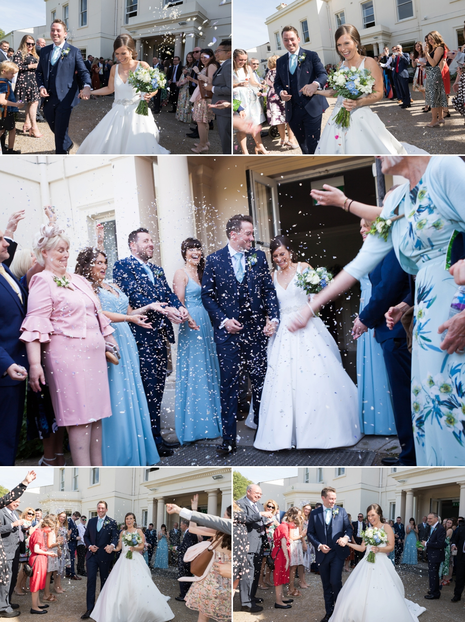 Confetti at Morden Hall Weddings