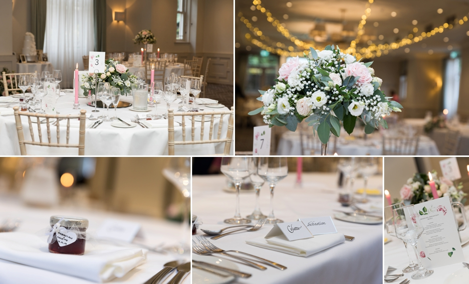 Wotton House wedding photography, the venue decorated for the wedding breakfast